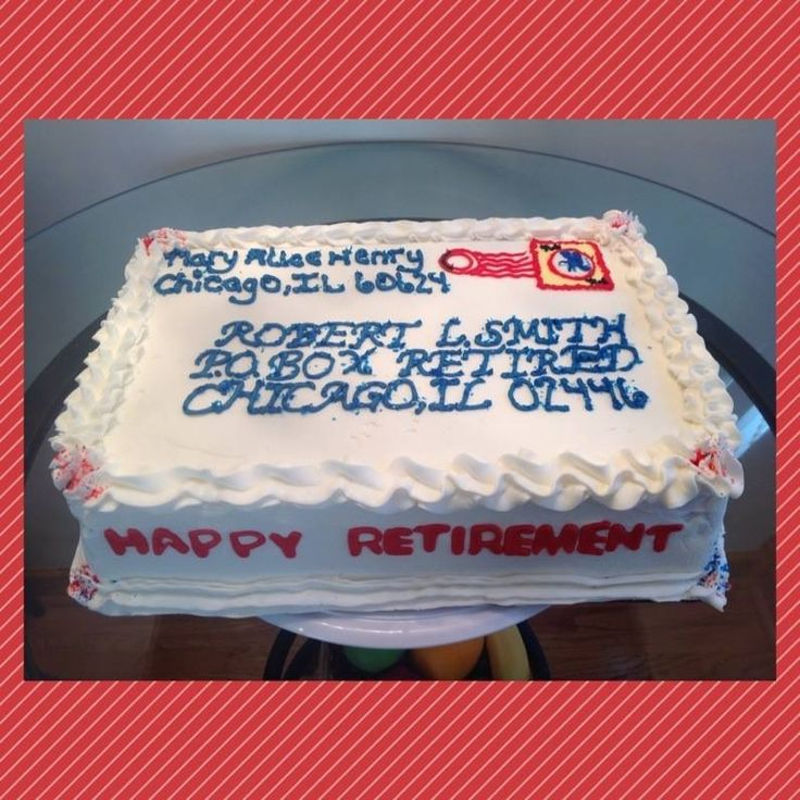Postal Retirement Cake Ideas