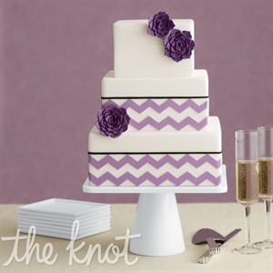 Purple Chevron Wedding Cake