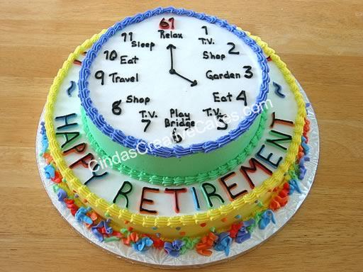 6 Photos of Decorated Retirement Cakes For Men