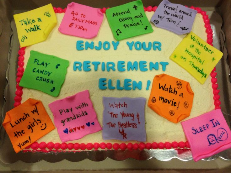 Retirement Sheet Cakes