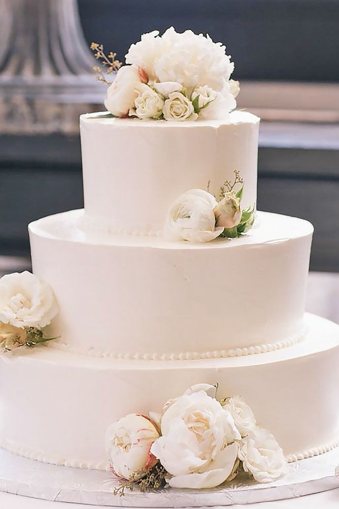 Simple Romantic Wedding Cake