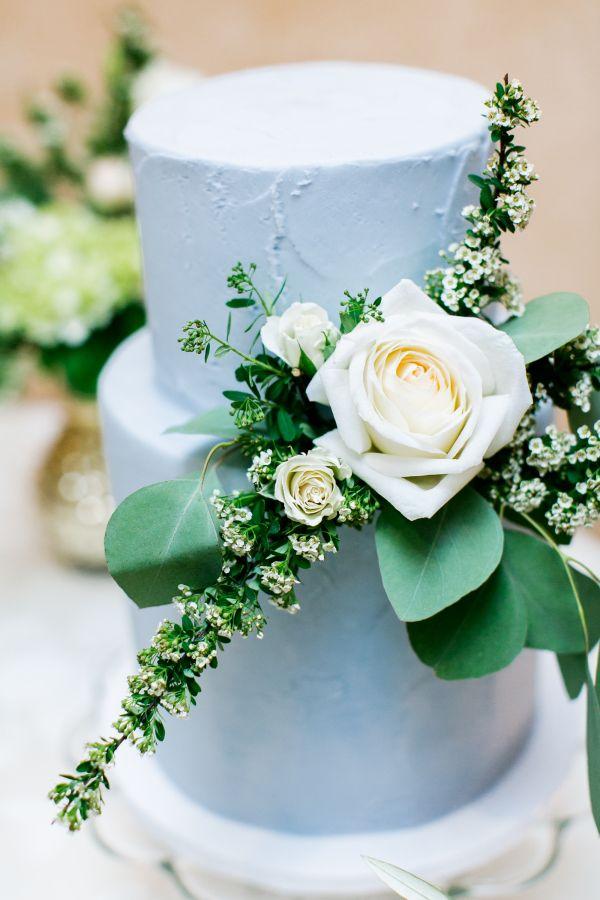 Sky Blue Wedding Cake