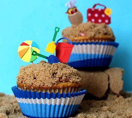 Summer Beach Cupcake Ideas