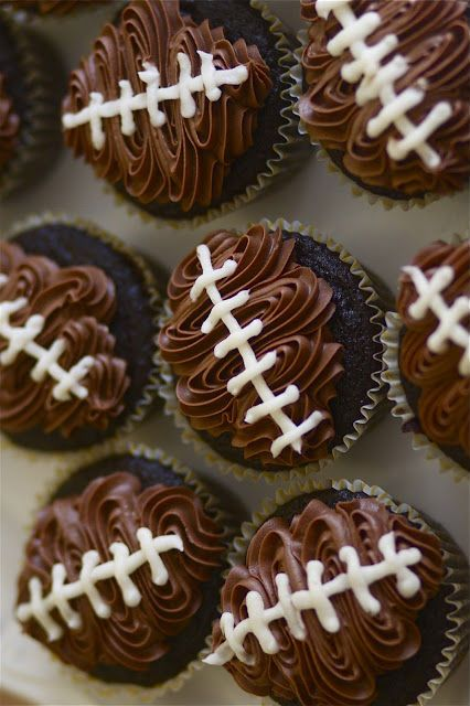 Super Bowl Cupcakes Pinterest