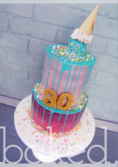 10 Photos of Neon Two Tier Cakes