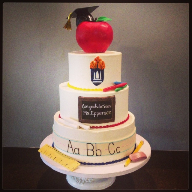 Teacher Themed Graduation Cakes