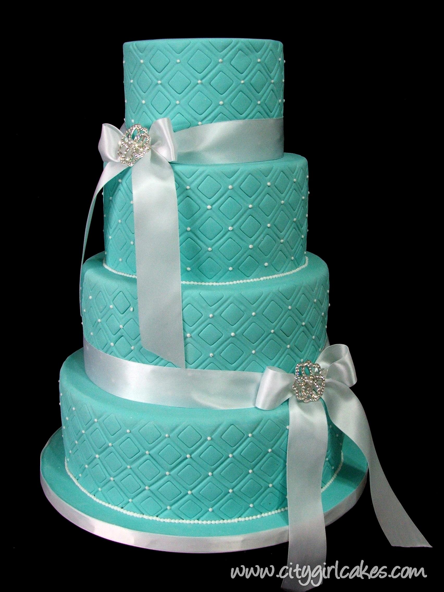 Tiffany Blue Wedding Cake
