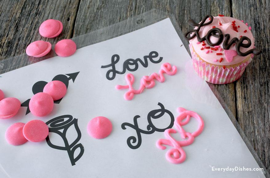 Valentine Chocolate Cupcake Topper