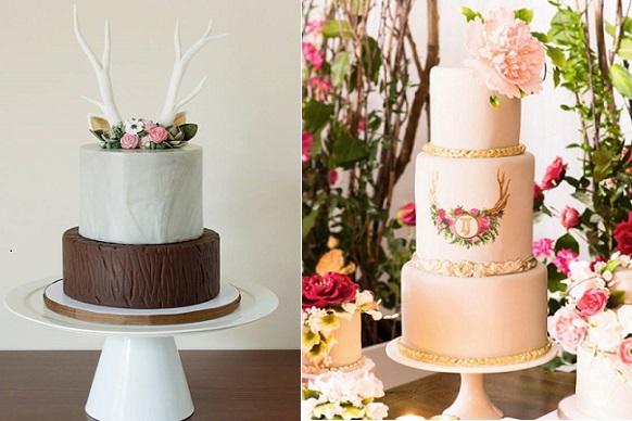 Wedding Cake with Antlers