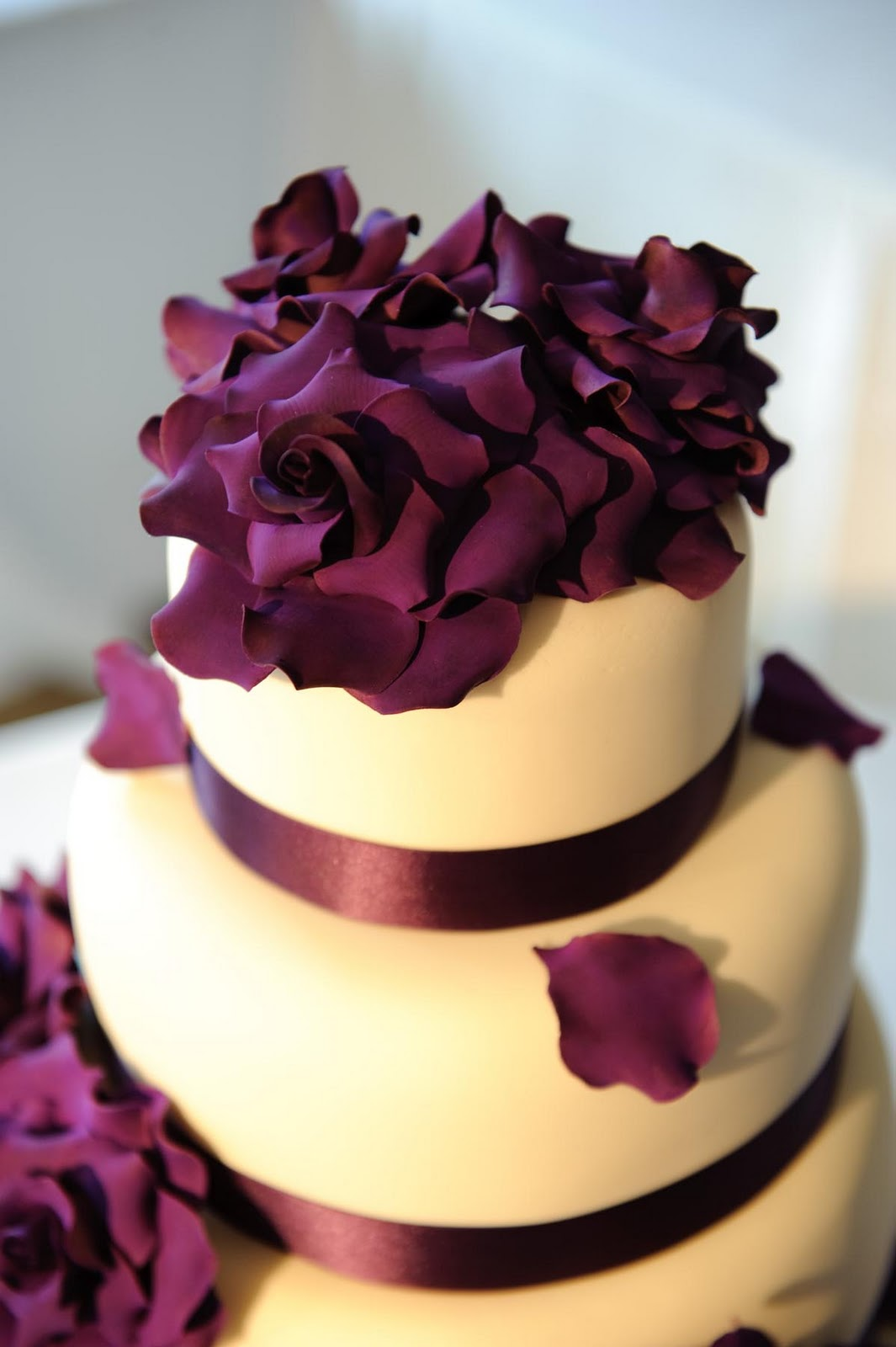 Wedding Cake with Purple