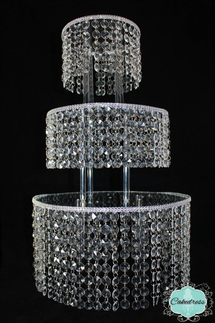 3 Tier Crystal Cake Stand