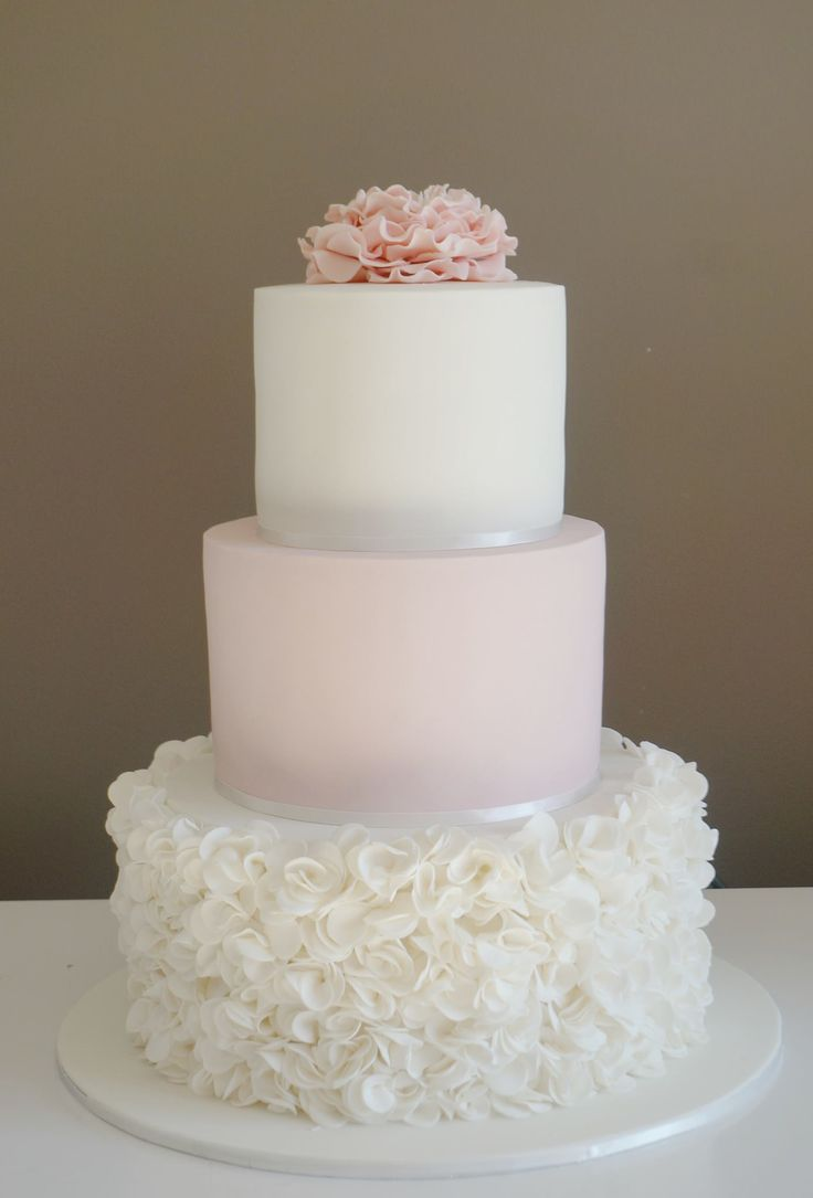 3 Tier Wedding Cake with Flowers