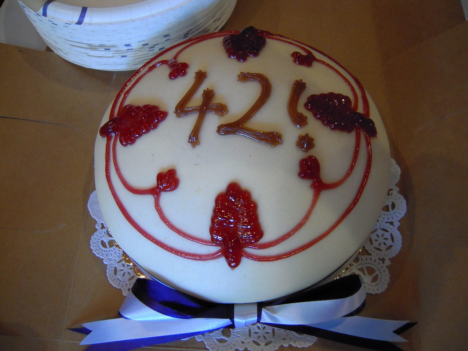 42 Birthday Cake
