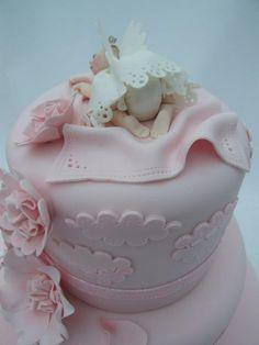 Angel Baby Shower Cake Designs