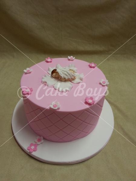 Angel Baby Shower Cake