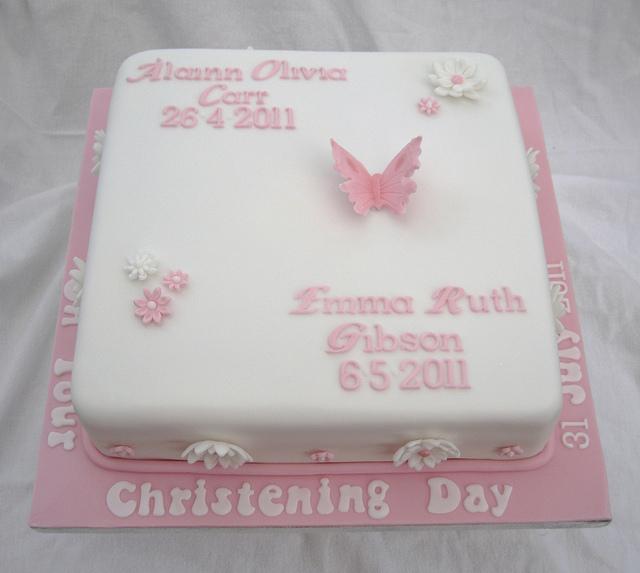 10 Photos of Pink Baptism Sheet Cakes