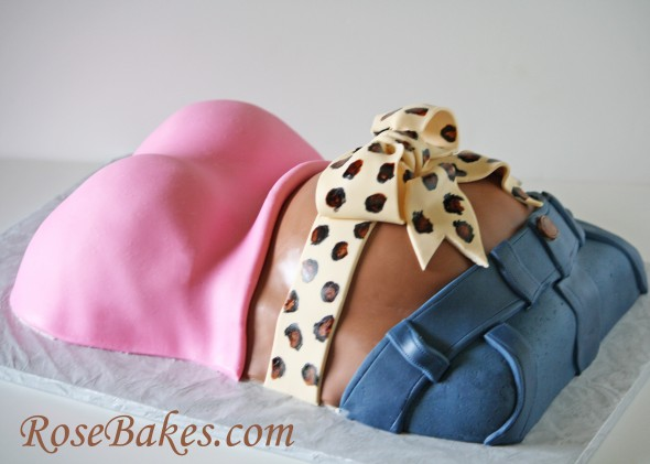 Baby Shower Cake Pregnant Belly