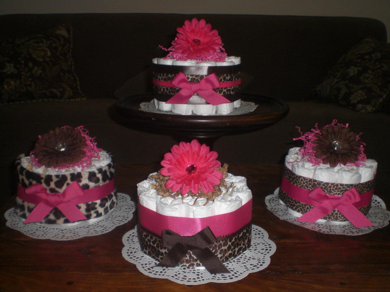 Baby Shower Diaper Cake Centerpieces