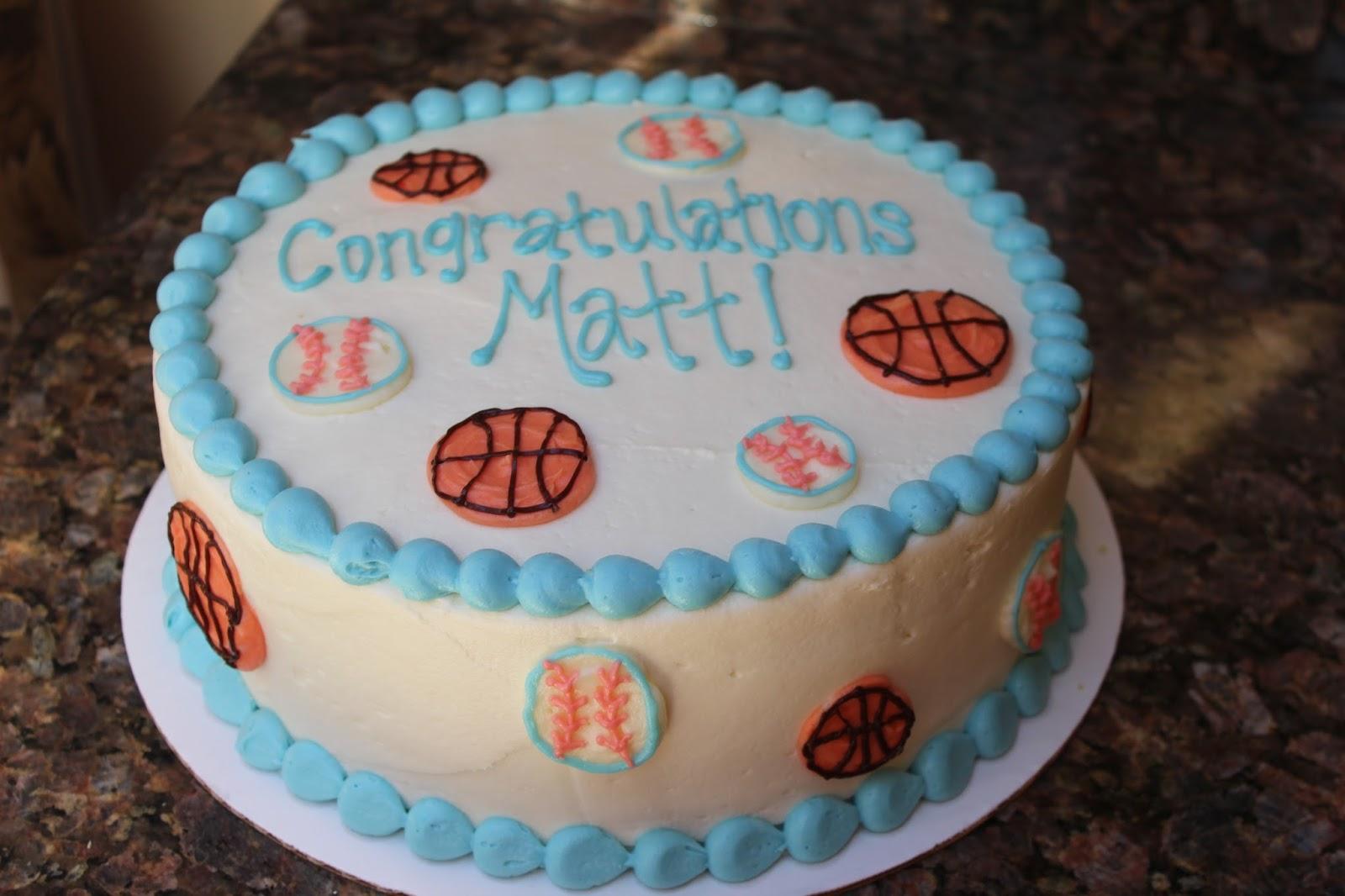 Basketball Themed Cake Dessert