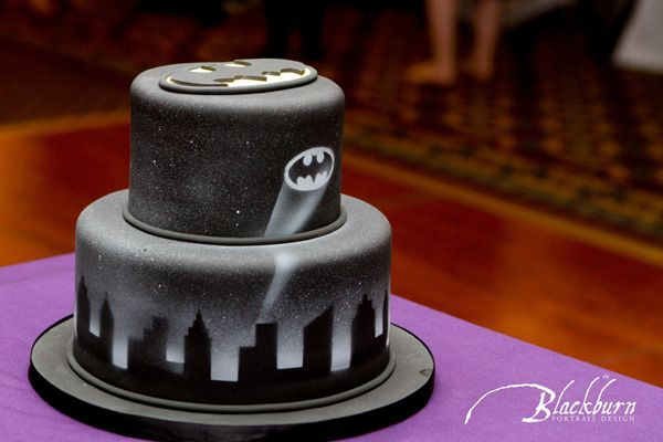 Batman Grooms Wedding Cakes