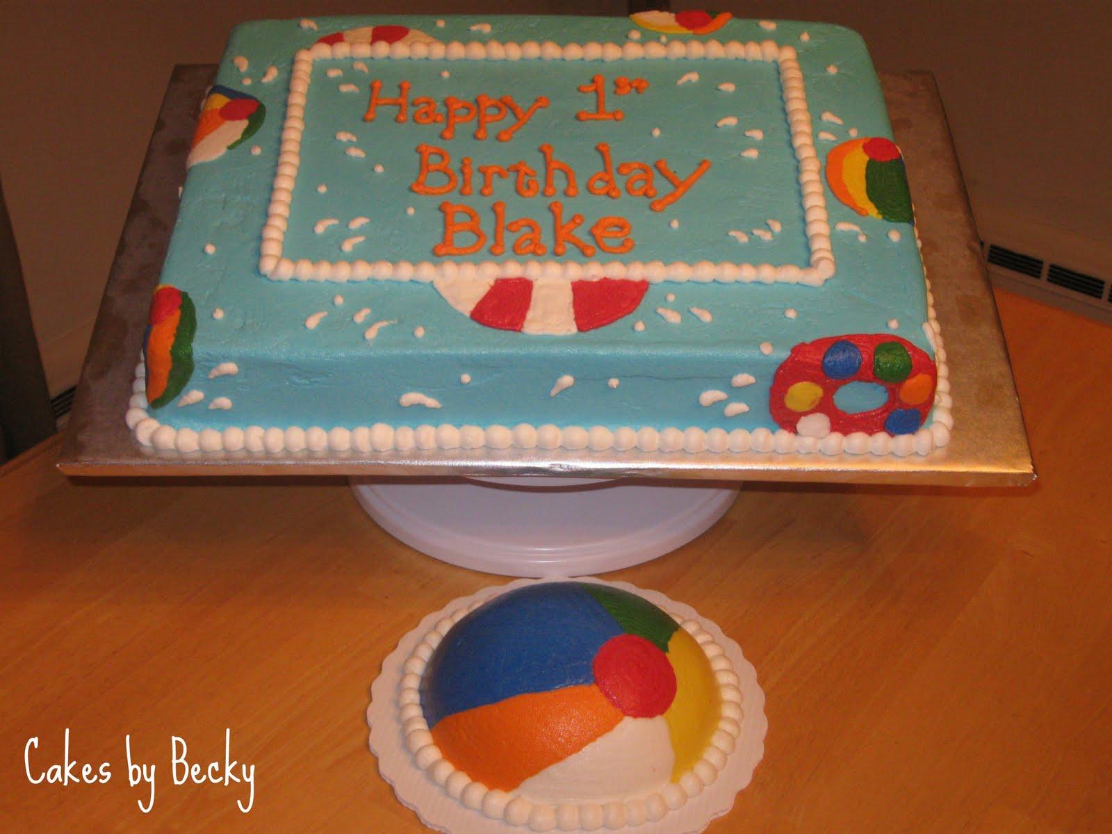 Beach Ball Birthday Cake
