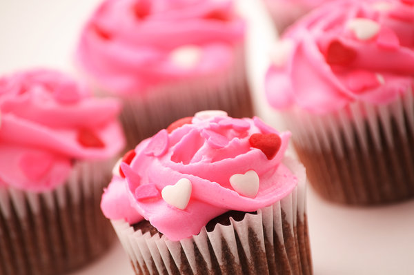 Beautiful Valentine Cupcakes