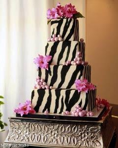 Black and White Zebra Cake