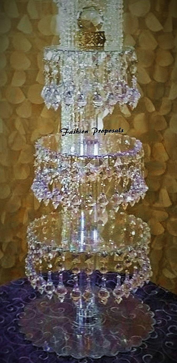 Bling Wedding Cake Cupcake Stand