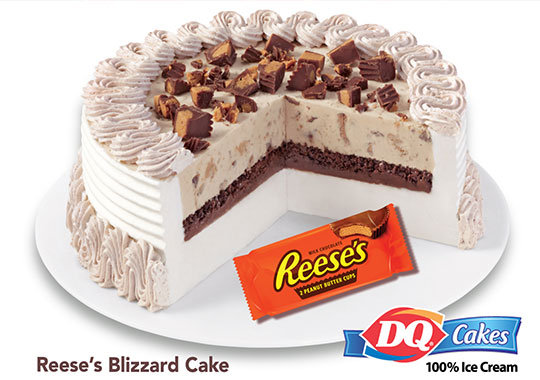 Blizzard Dairy Queen Reese's Cake