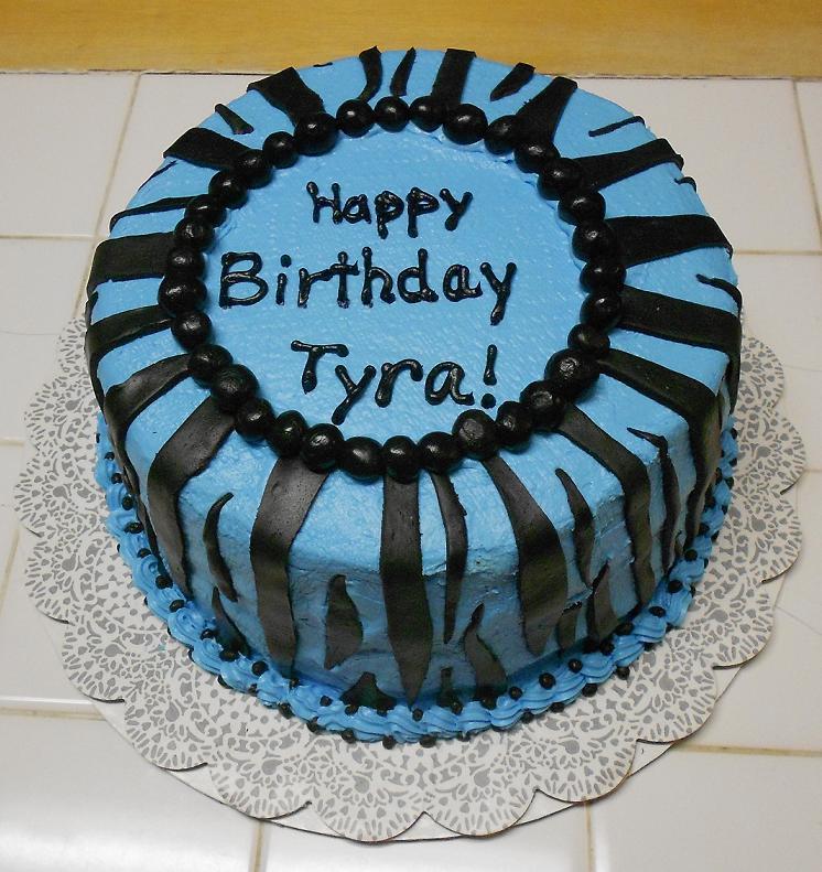 Blue Zebra Birthday Cakes for Girls