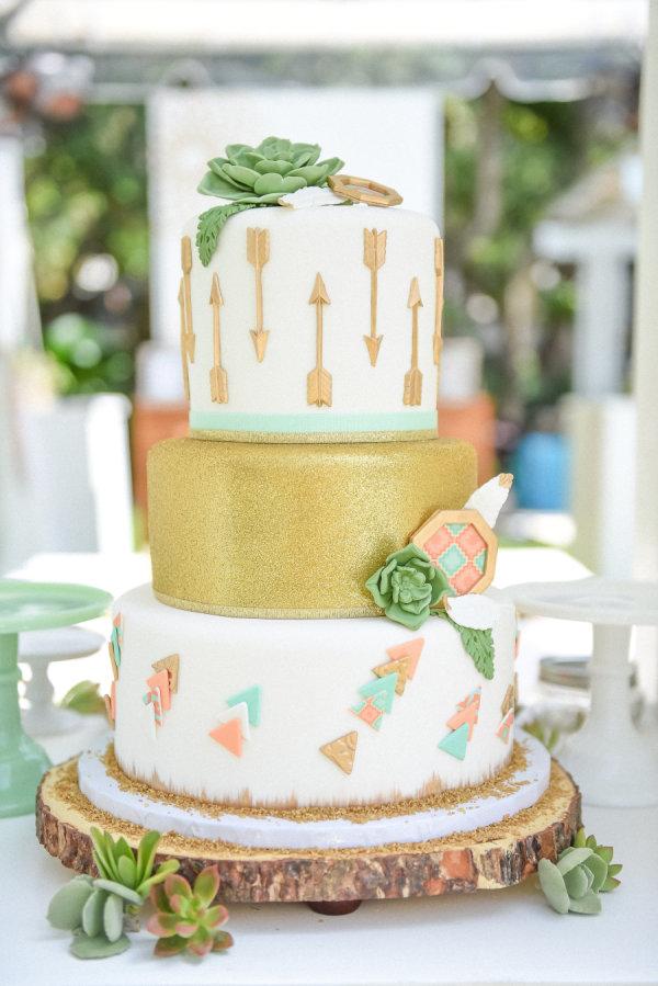 Boho Baby Shower Cake Ideas