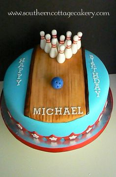 Bowling Birthday Party Cake