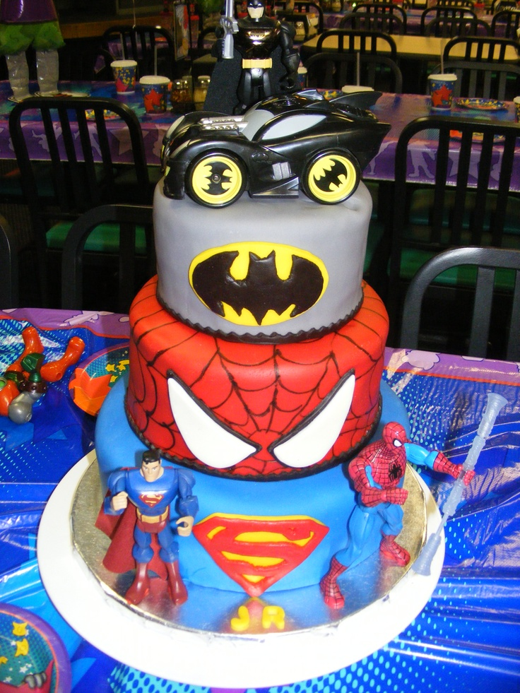 Sensational 10 Super Hero Boy Birthday Cakes Photo Boys Superhero Birthday Personalised Birthday Cards Cominlily Jamesorg
