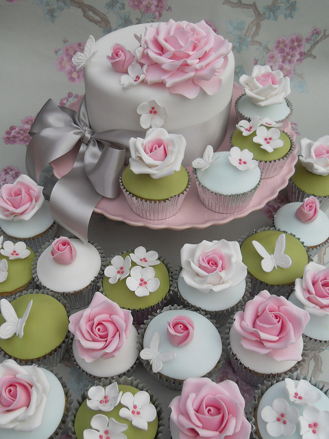 Butterfly Wedding Cake Cupcakes