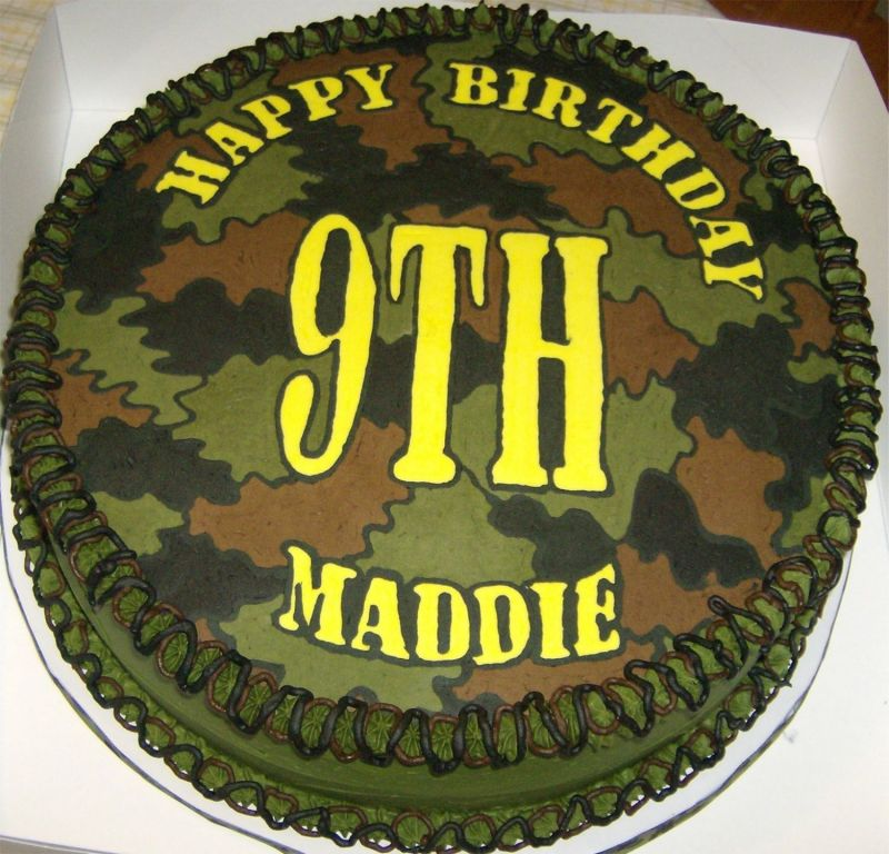 Camouflage Birthday Cake Ideas