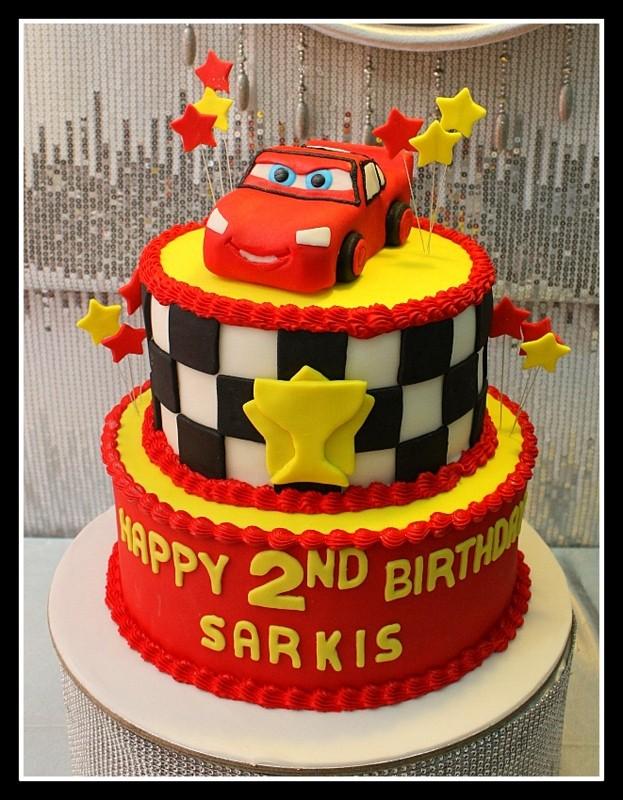 Cars Lightning McQueen Birthday Cake