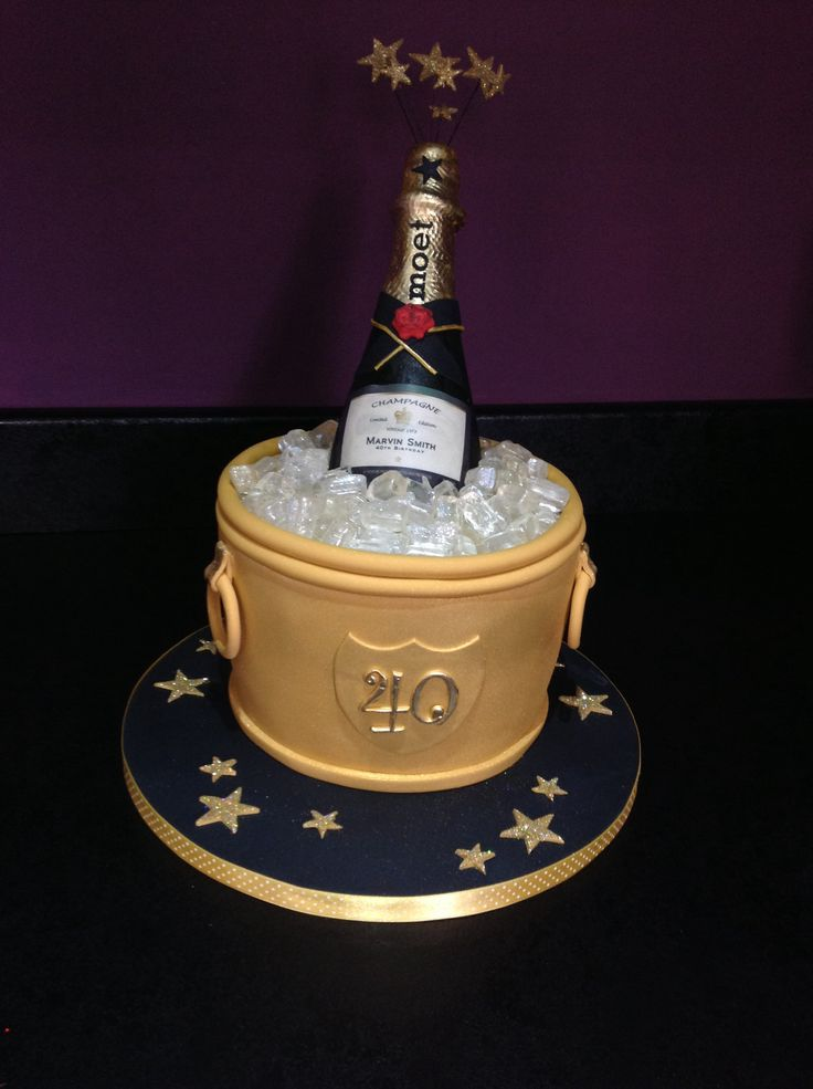 Pleasant 11 Champagne Themed Birthday Cakes Photo 50Th Birthday Cake Funny Birthday Cards Online Hetedamsfinfo