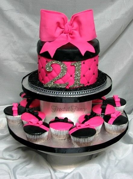 Surprising 11 Hot Pink Cupcakes Designs Photo Hot Pink And Black Cupcakes Personalised Birthday Cards Epsylily Jamesorg