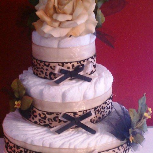 Cheetah Girl Diaper Cake