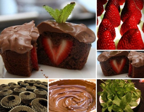 10 Photos of Chocolate Cupcakes With Strawberry Inside