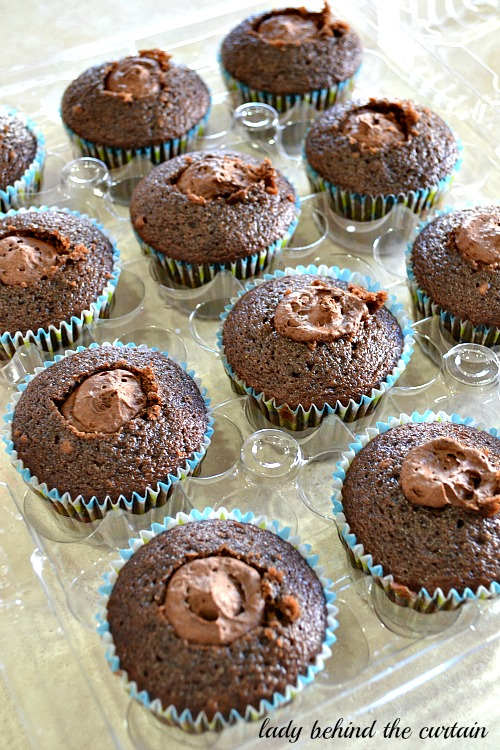 Chocolate Mousse Filled Cupcakes