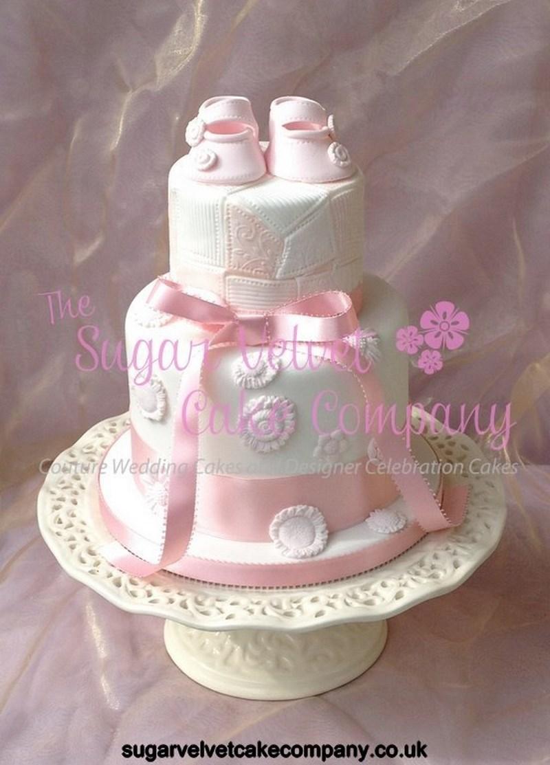 Christening Pink Baptism Cake