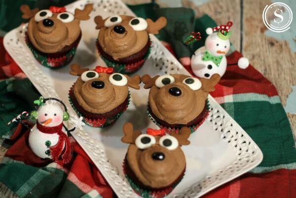 Christmas Reindeer Cupcakes Recipe Easy