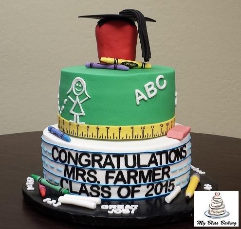 College Graduation Teacher Cake