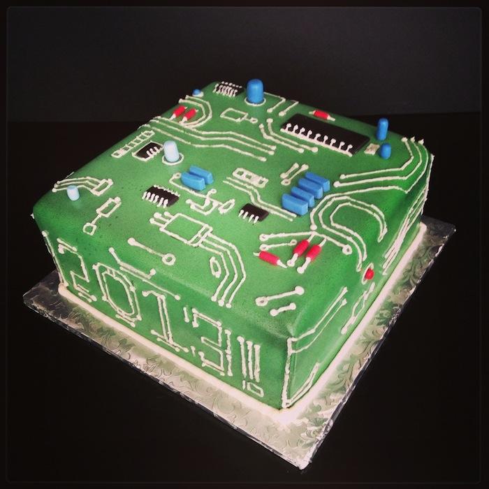 Computer Geek Birthday Cake