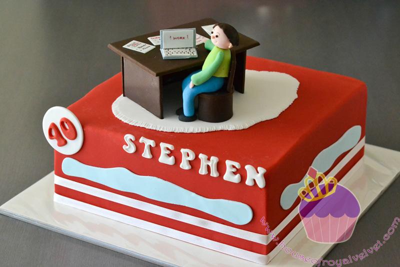 Computer Themed Birthday Cake