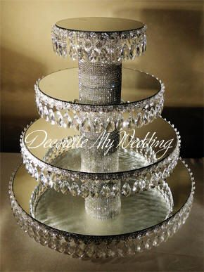 Crystal Wedding Cupcake Stands