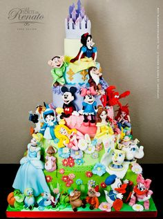 Disney Characters Cake