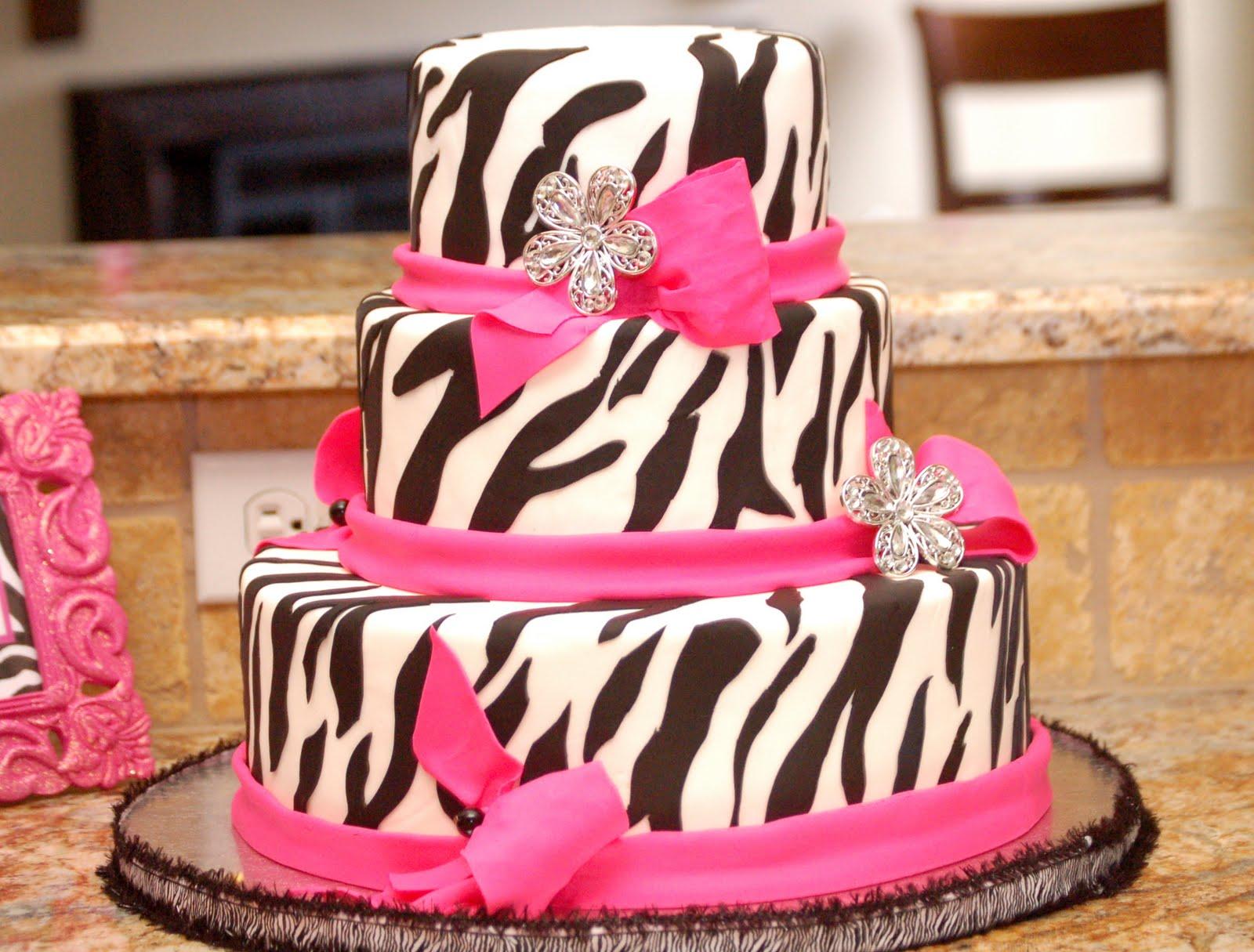 Diva Zebra Birthday Cake