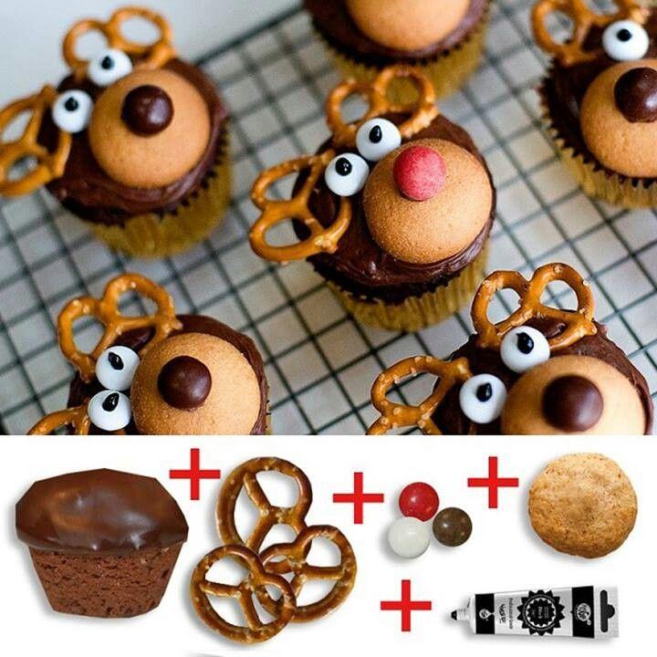 DIY Christmas Reindeer Cupcakes
